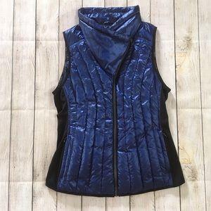 Calvin Klein   Performance Metallic Blue Down Vest